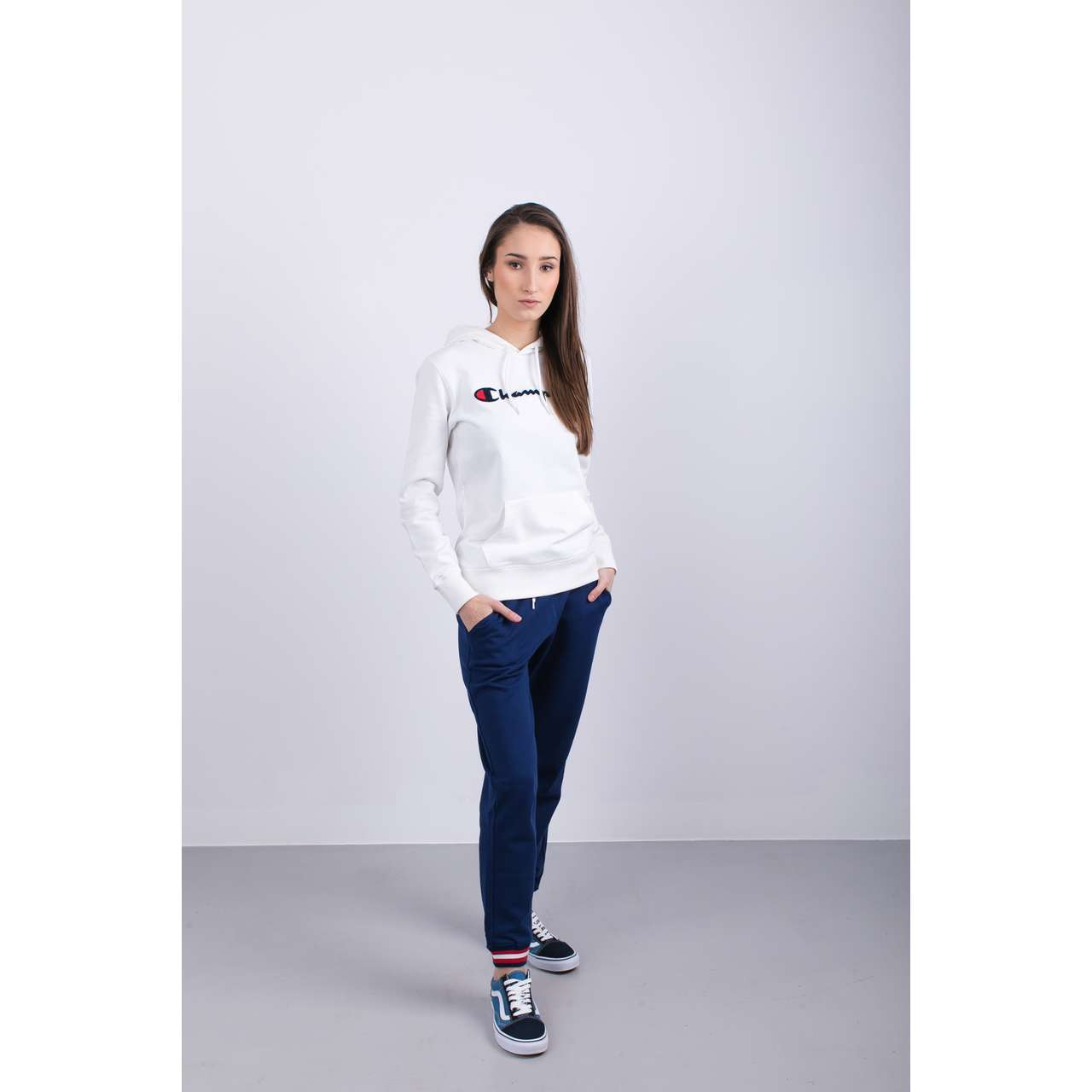 Bluza Champion  <br/><small>HOODED SWEATSHIRT WW001 WHT </small>  111383-WW001