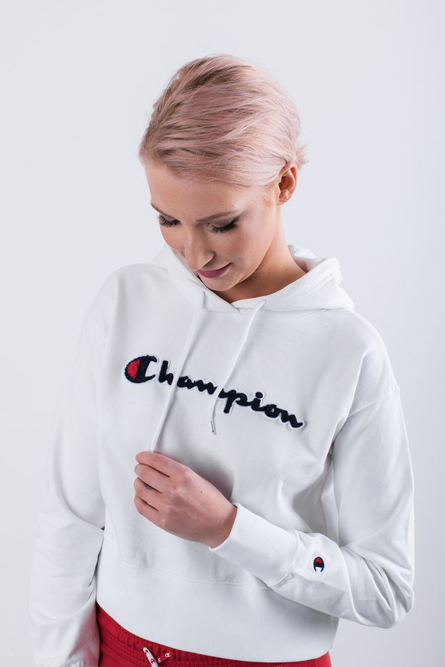 Champion HOODED SWEATSHIRT WW001 WHT 111850-WW001