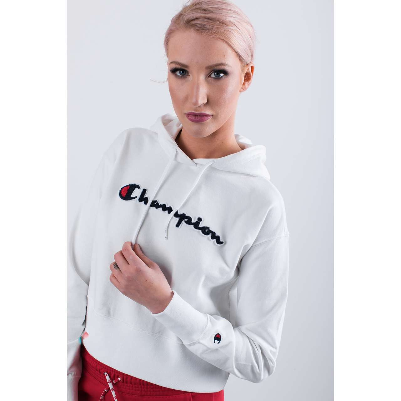 Bluza Champion  <br/><small>HOODED SWEATSHIRT WW001 WHT </small>  111850-WW001