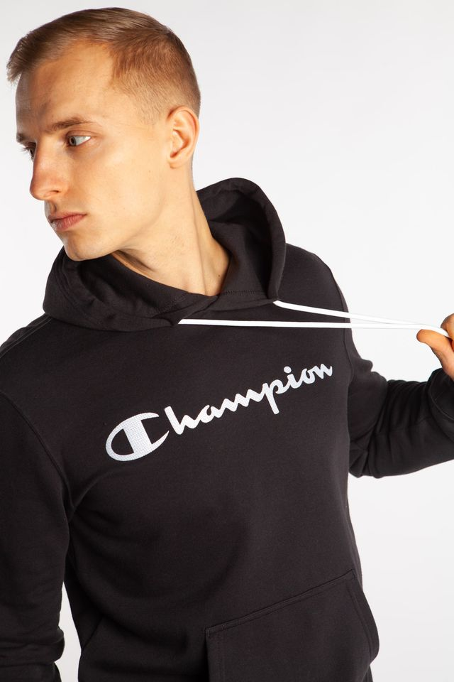 Champion HOODED SWEATSHIRT KK001 BLACK 214138-KK001