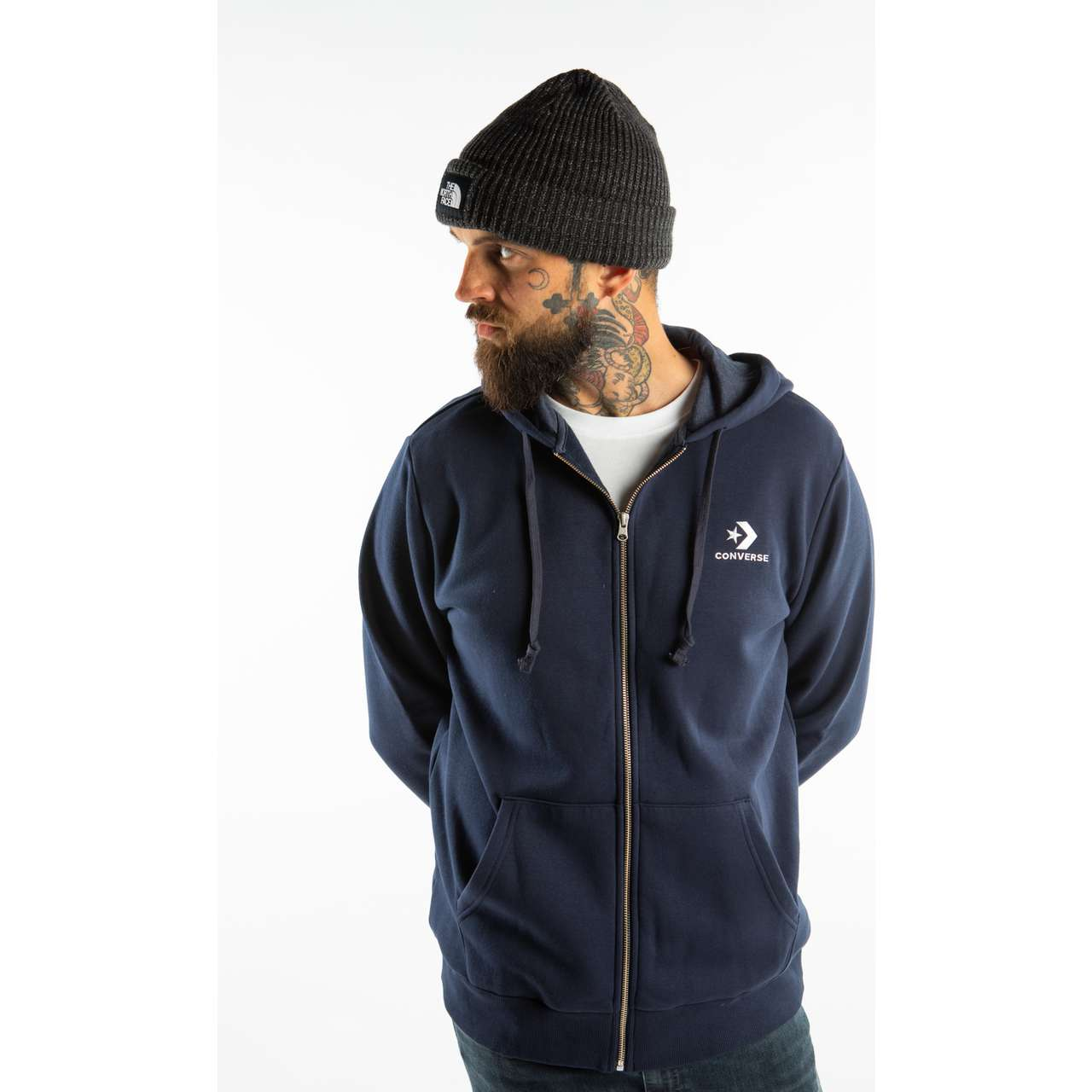 Bluza Converse  <br/><small>STAR CHEVRON FULL ZIP HOODIE A02 NAVY </small>  10008813-A02