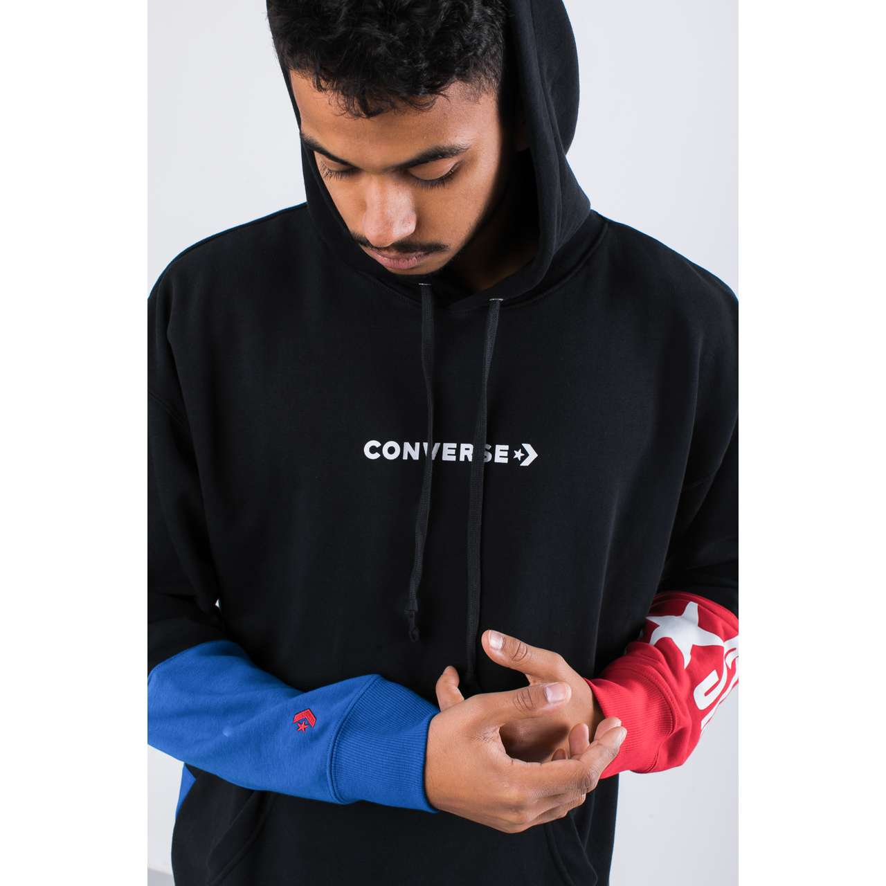 Bluza Converse  <br/><small>ONE STAR BLOCK PACK PO HOODIE BLACK </small>  10017319-A01