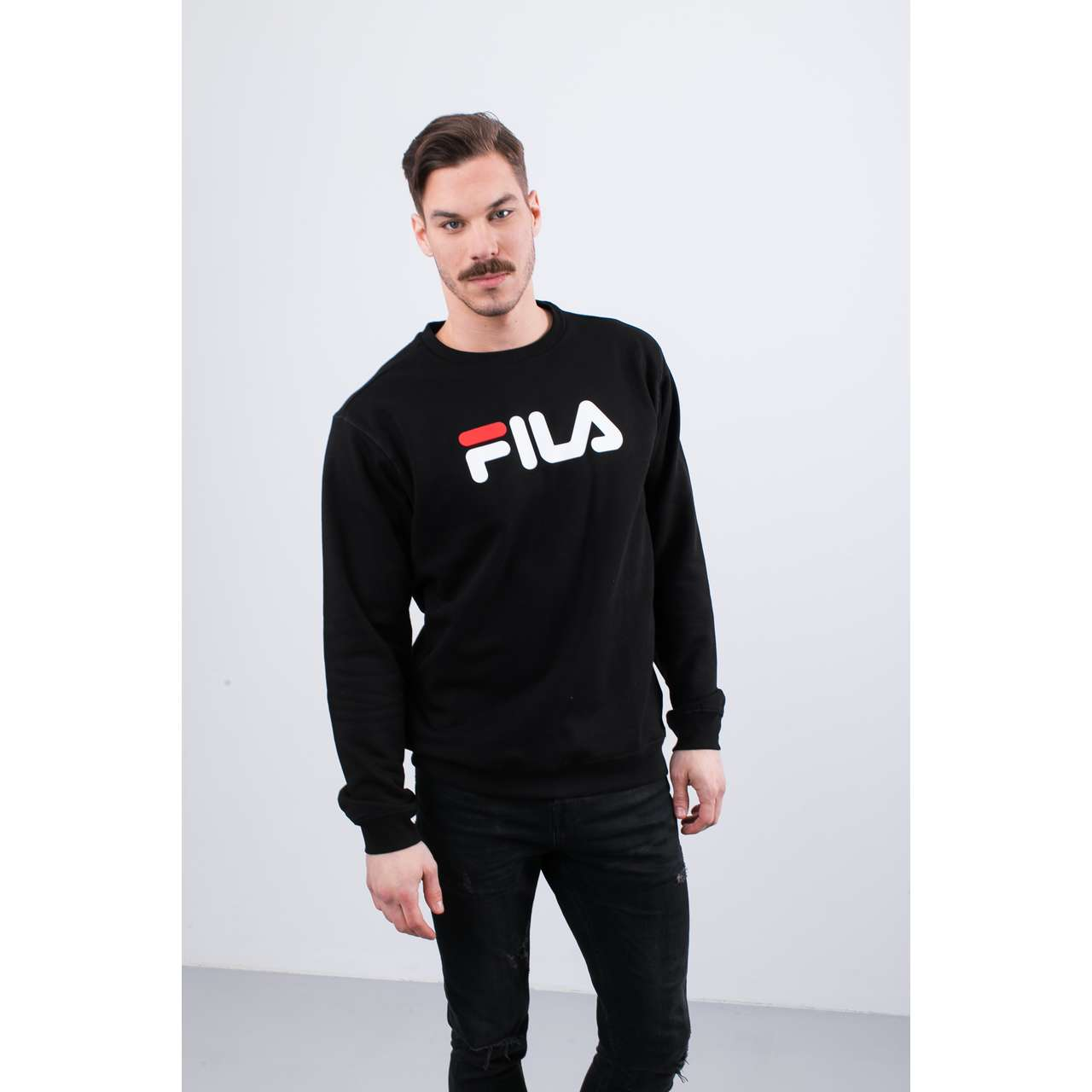 Bluza Fila  <br/><small>PURE CREW SWEAT 002 BLACK </small>  681091-002