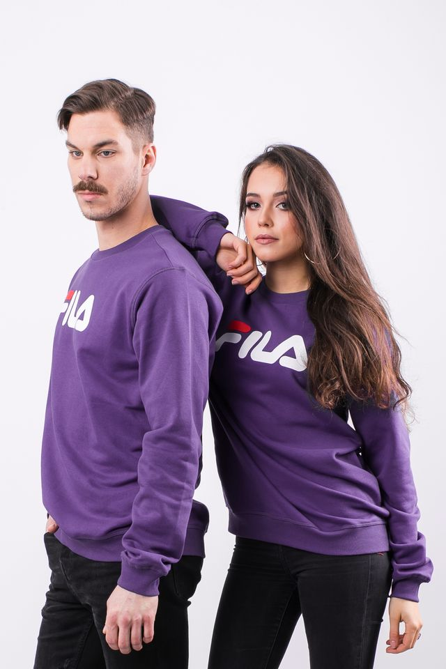 Fila PURE CREW SWEAT A033 TILLANDSIA PURPLE 681091-A033