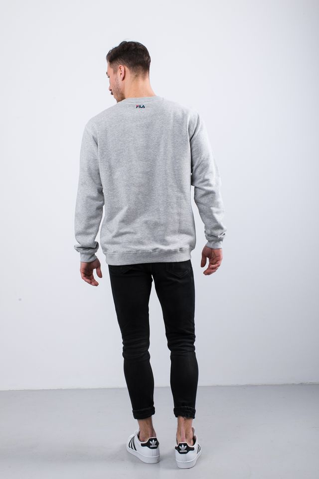 Bluza Fila  <br/><small>PURE CREW SWEAT B13 LIGHT GREY MELANGE BROS </small>  681091-B13