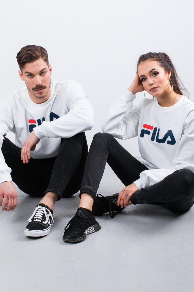 Fila PURE CREW SWEAT M67 BRIGHT WHITE 681091-M67