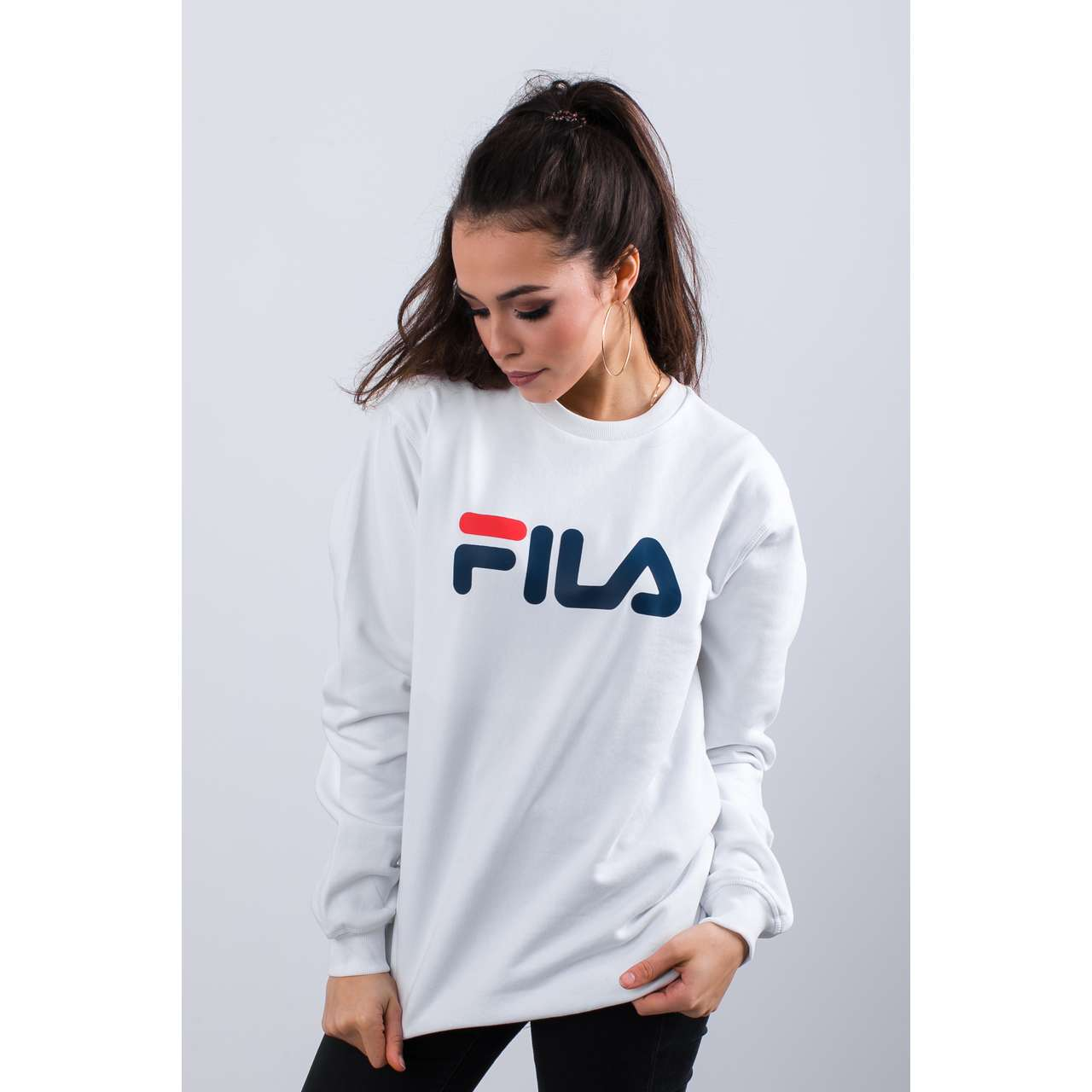 Bluza Fila  <br/><small>PURE CREW SWEAT M67 BRIGHT WHITE </small>  681091-M67