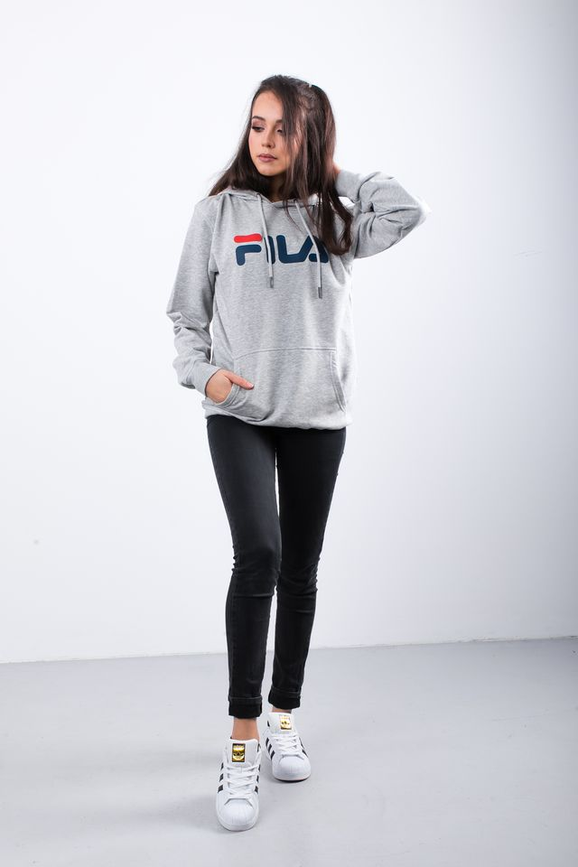 Bluza Fila  <br/><small>PURE HOODY B13 LIGHT GREY MELANGE BROS </small>  681090-B13