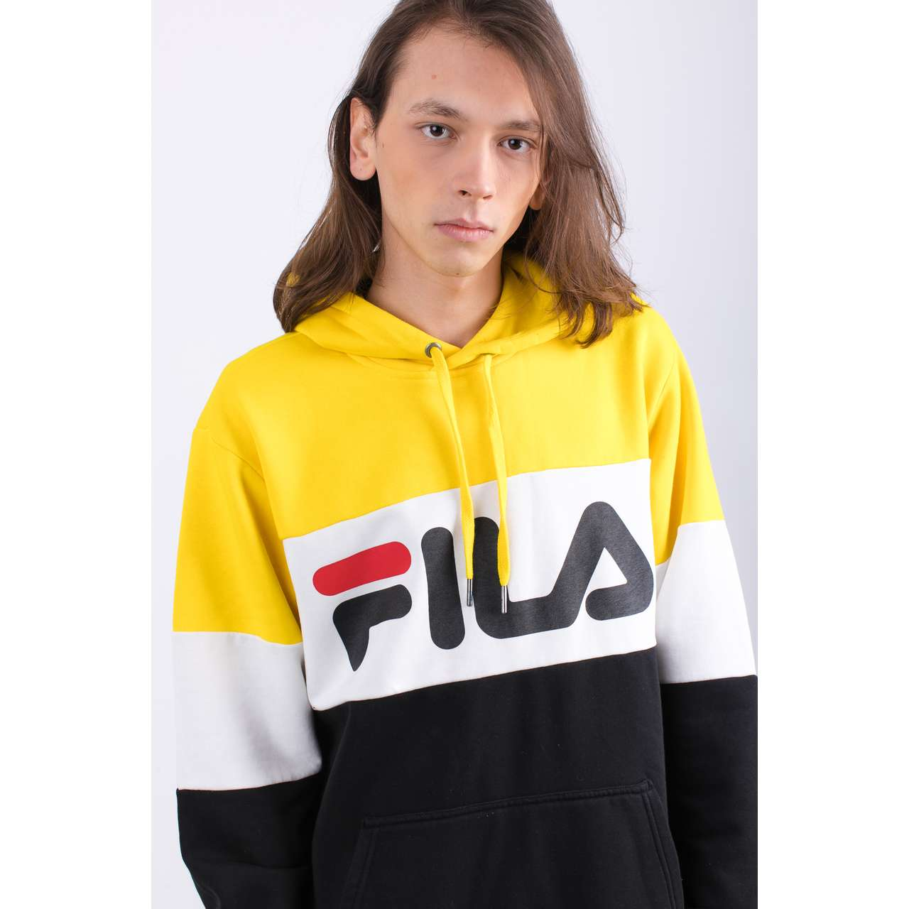 Bluza Fila  <br/><small>MEN NIGHT BLOCKED A063 BLACK/EMPIRE YELLOW/BRIGHT WHITE </small>  687001-A063