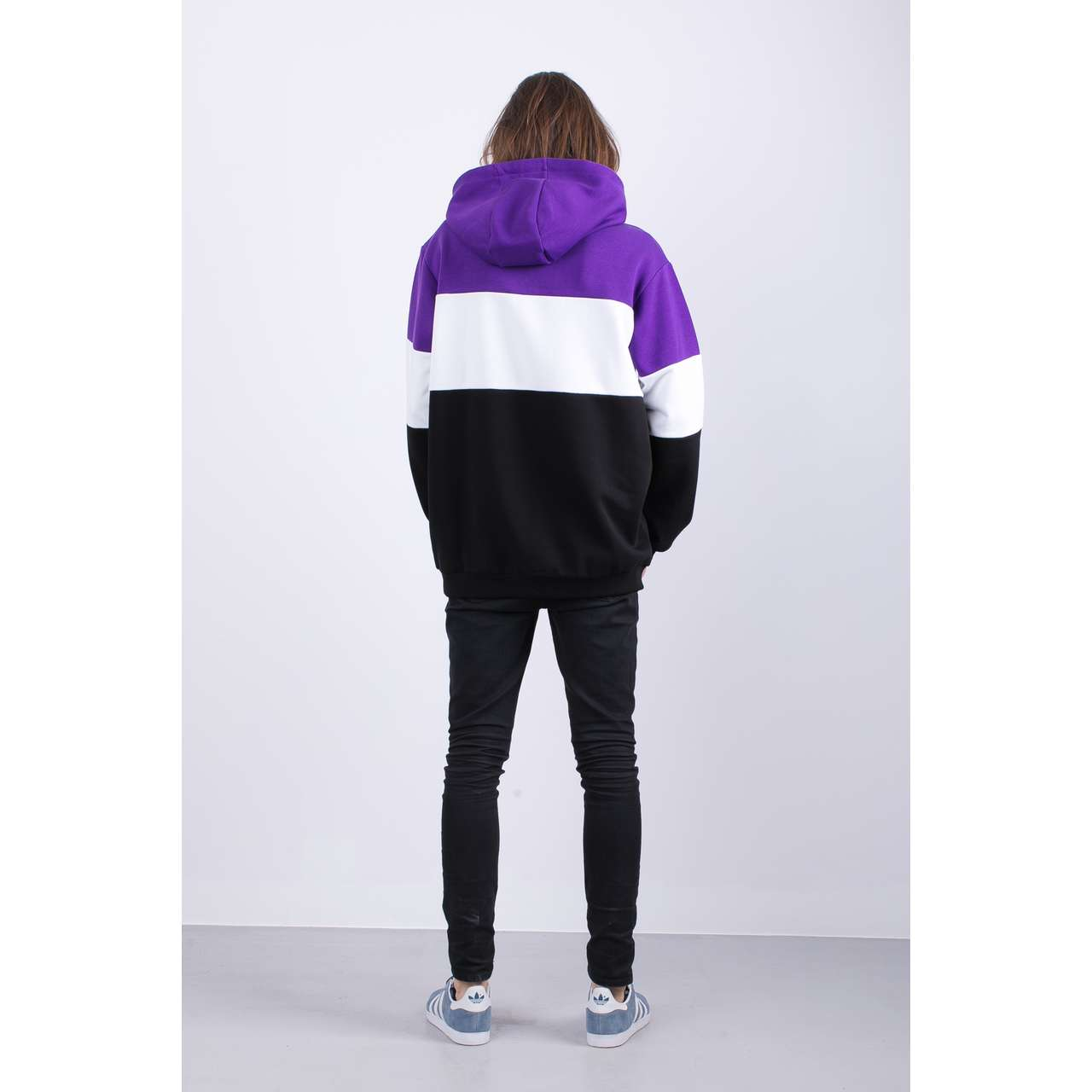 Bluza Fila  <br/><small>MEN NIGHT BLOCKED A178 BLACK/TILLANDSIA PURPLE/BRIGHT WHITE </small>  687001-A178