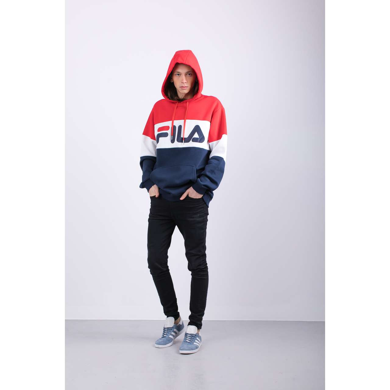 Bluza Fila  <br/><small>MEN NIGHT BLOCKED G06 BLACK IRIS/TRUE RED/BRIGHT WHITE </small>  687001-G06