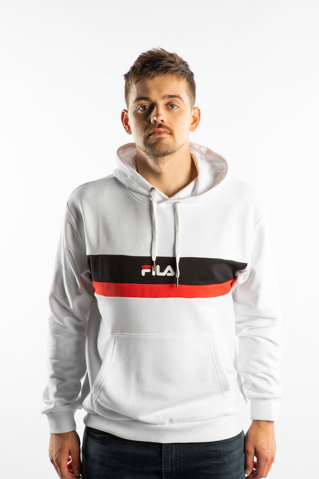 Fila RADOMIR HOODY A131 BRIGHT WHITE/TRUE RED/BLACK 687232-A131