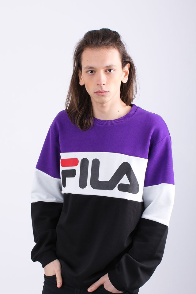 Fila MEN STRAIGHT BLOCKED A178 BLACK/TILLANDSIA PURPLE/BRIGHT WHITE 681255-A178