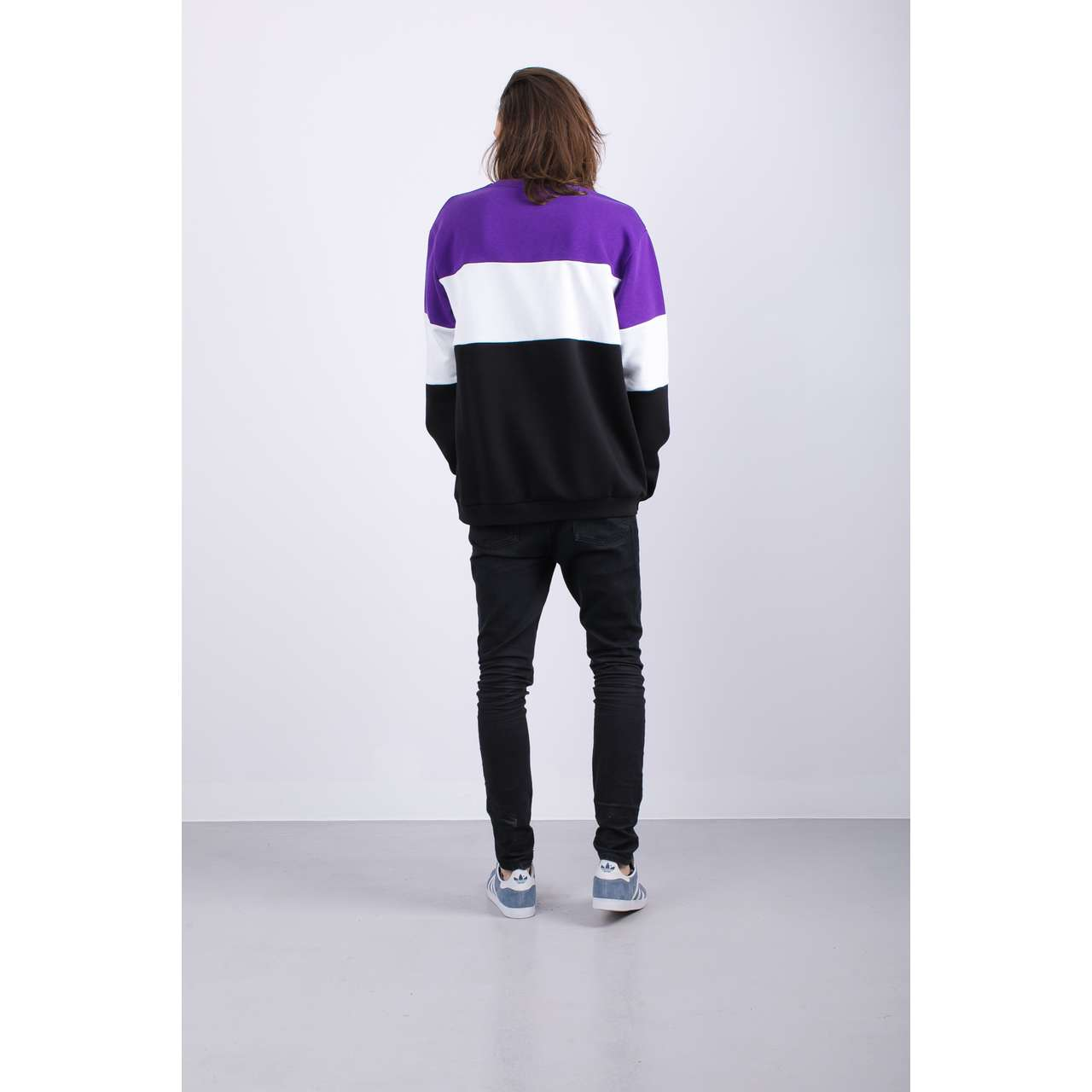 Bluza Fila  <br/><small>MEN STRAIGHT BLOCKED A178 BLACK/TILLANDSIA PURPLE/BRIGHT WHITE </small>  681255-A178