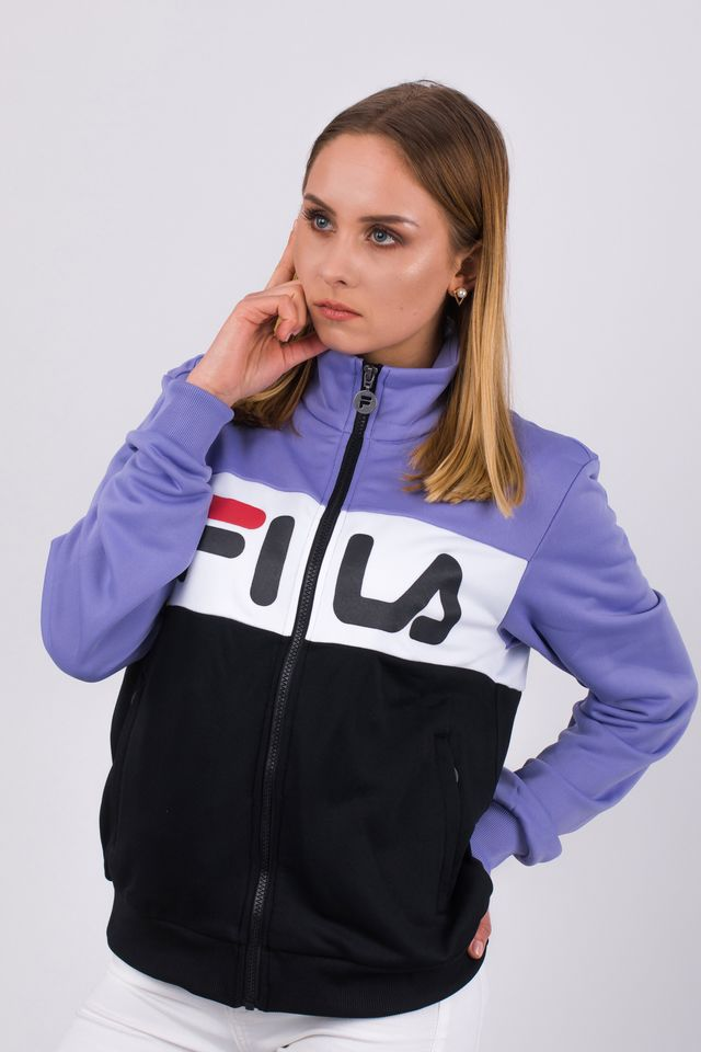 Fila WOMEN BRONTE TRACK JACKET A067 VIOLET TULIP/BLACK/BRIGHT WHITE 682340-A067