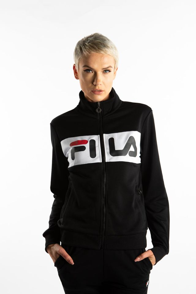 Fila WOMEN BRONTE TRACK JACKET E09 BLACK/BRIGHT WHITE 682340-E09