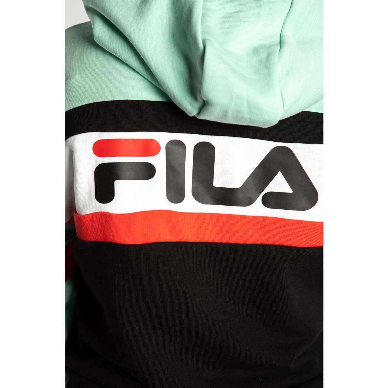 Bluza Fila  <br/><small>ELLA HOODY A211 MIST GREEN/BLACK/BRIGHT WHITE/TRUE RED </small>  687079-A211