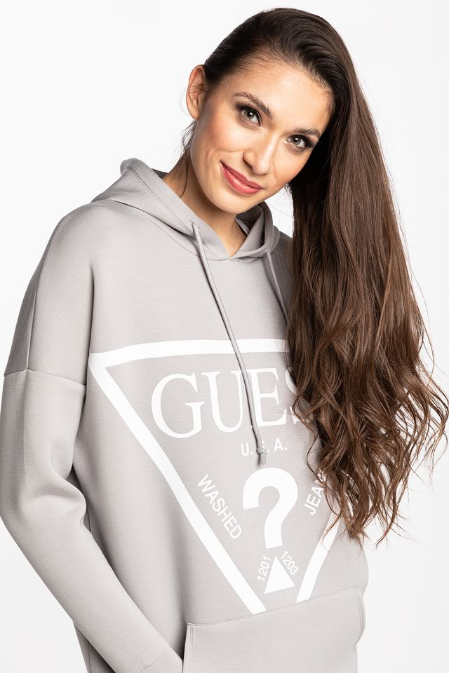 GREY BLUZA HOODED SWEATSHIRT O1GA32KAMN2-G9L2