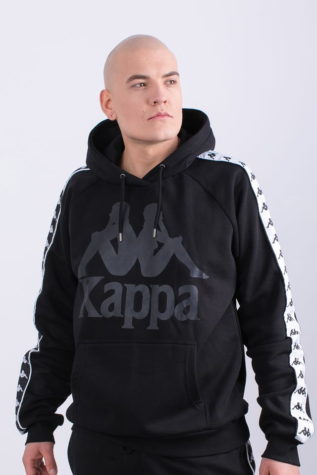 Kappa ERNIE HOODED SWEATSHIRT 005 BLACK 305004-005