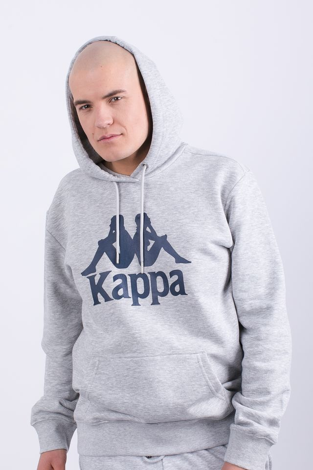 Kappa TAINO HOODED SWEATSHIRT 18M GREY MELANGE 705322-18M