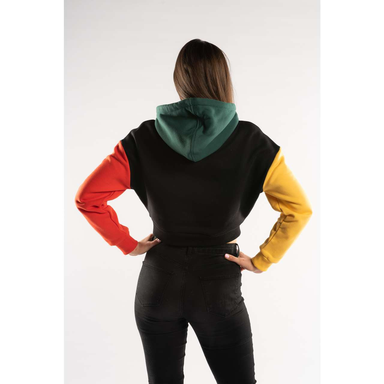 Bluza Karl Kani  <br/><small>BLOCK SIGNATURE HOODIE BLACK/YELLOW/RED </small>  6091092