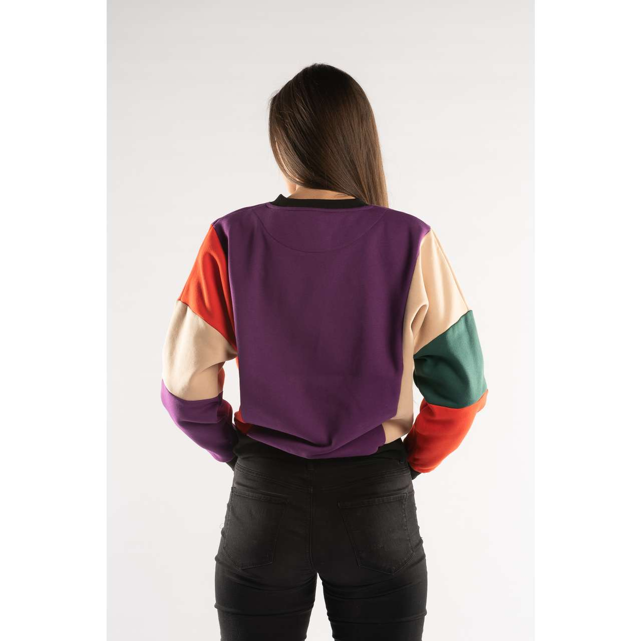 Bluza Karl Kani  <br/><small>COLLEGE BLOCK CREW PURPLE/BEIGE/RED/GREEN </small>  6120517