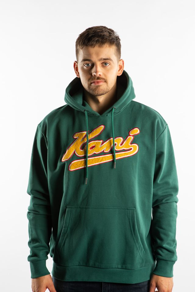 Karl Kani COLLEGE HOODIE 818 GREEN/YELLOW 6091818