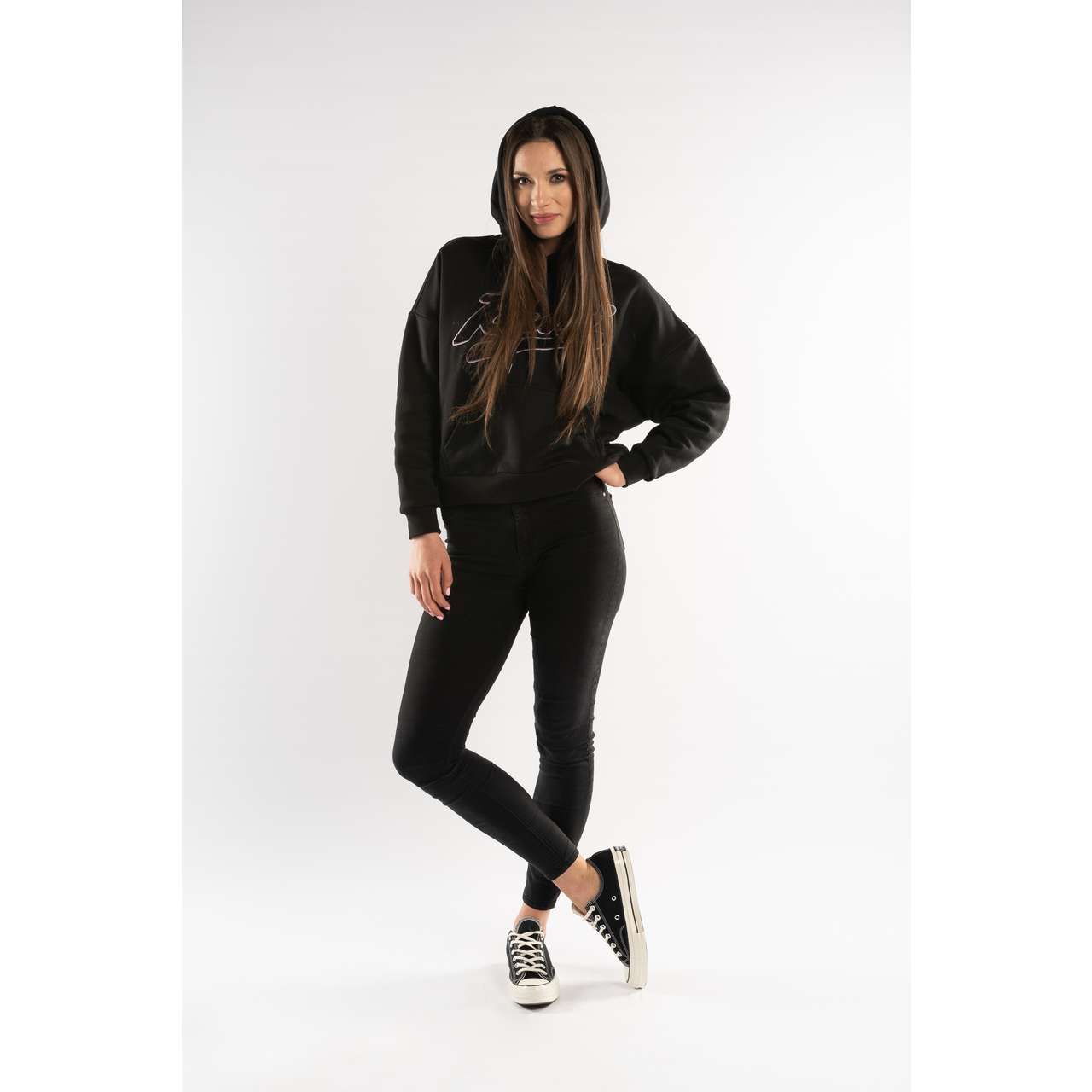 Bluza Karl Kani  <br/><small>COLLEGE HOODIE BLACK/PURPLE/WHITE </small>  6120518