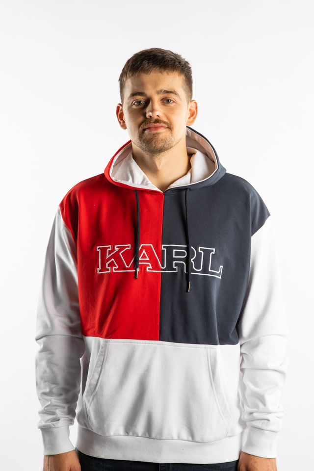 Karl Kani RETRO BLOCK HOODIE 819 WHITE/RED/BLUE 6091819