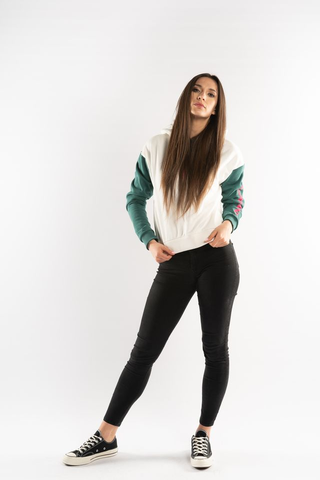 Bluza Karl Kani  <br/><small>RETRO BLOCK HOODIE WHITE/GREEN/PINK </small>  6121172