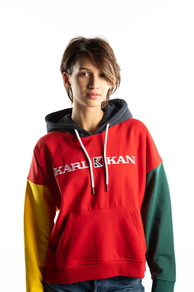 Karl Kani RETRO BLOCK HOODIE 866 RED/YELLOW/GREEN/BLUE 6121866