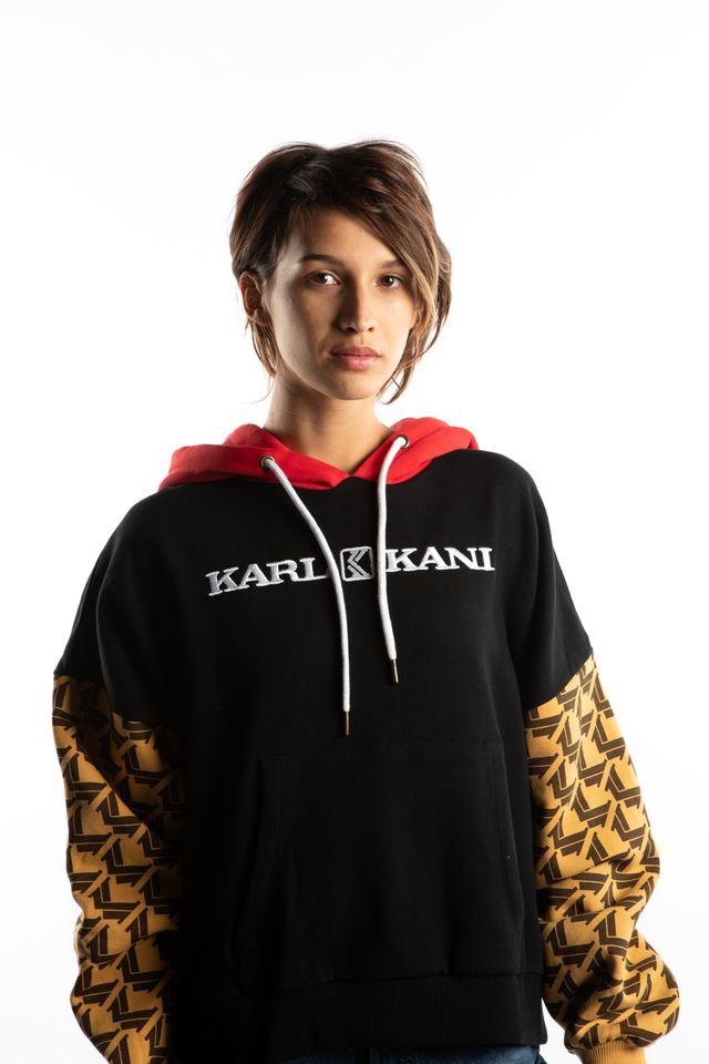 Karl Kani RETRO HOODIE 861 BLACK/CAMEL/BROWN 6121861