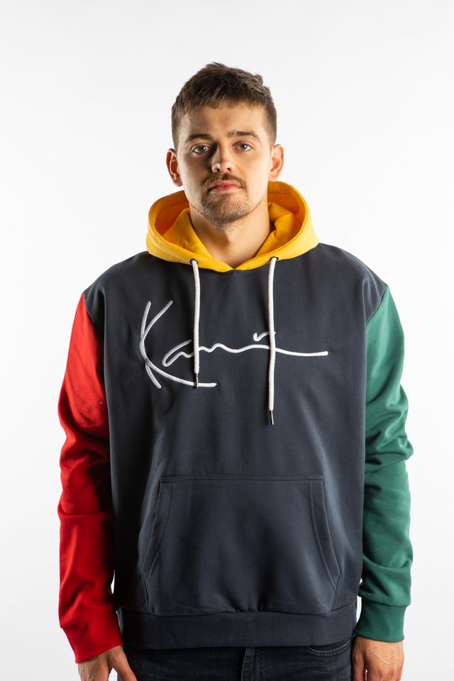 Karl Kani SIGNATURE BLOCK HOODIE 815 NAVY/RED/GREEN 6091815