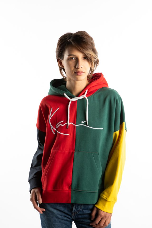 Karl Kani SIGNATURE BLOCK HOODIE 867 RED/GREEN/BLUE/YELLOW 6121867