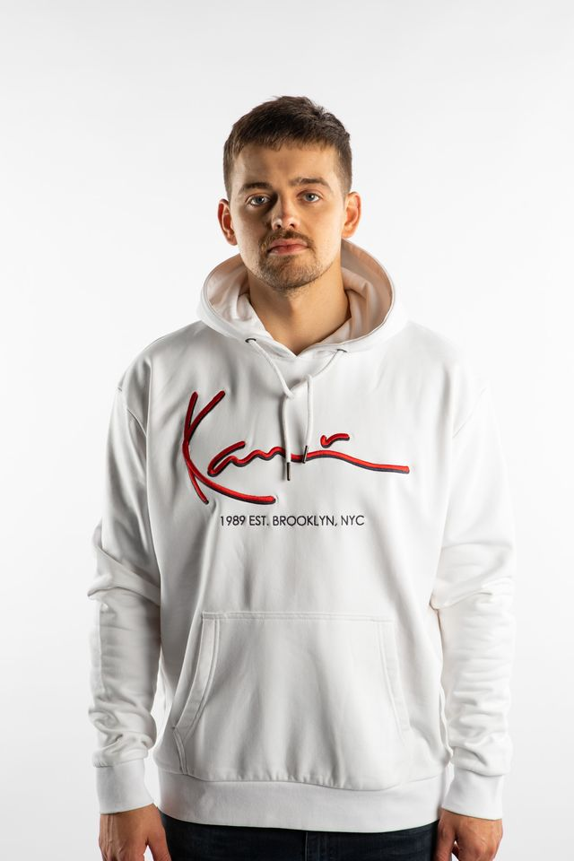 Karl Kani SIGNATURE HOODIE 820 WHITE 6091820