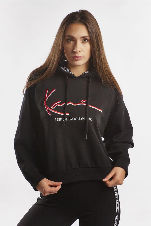 Karl Kani SIGNATURE TAPE HOODIE 978 BLACK/RED 6121978