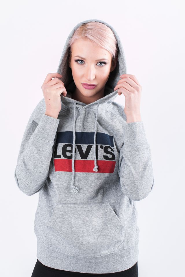 Levi's GRAPHIC SPORT HOODIE 0000 SMOKESTACK HEATHER SPORTSWEAR LOGO 35946-0000
