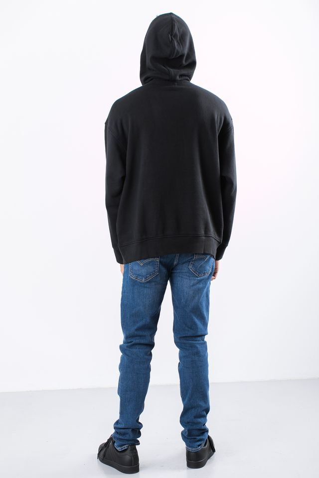 Bluza Levi's  <br/><small>OVERSIZED PULL HOODIE 0000 VARSITY BATWING BLACK </small>  56629-0000