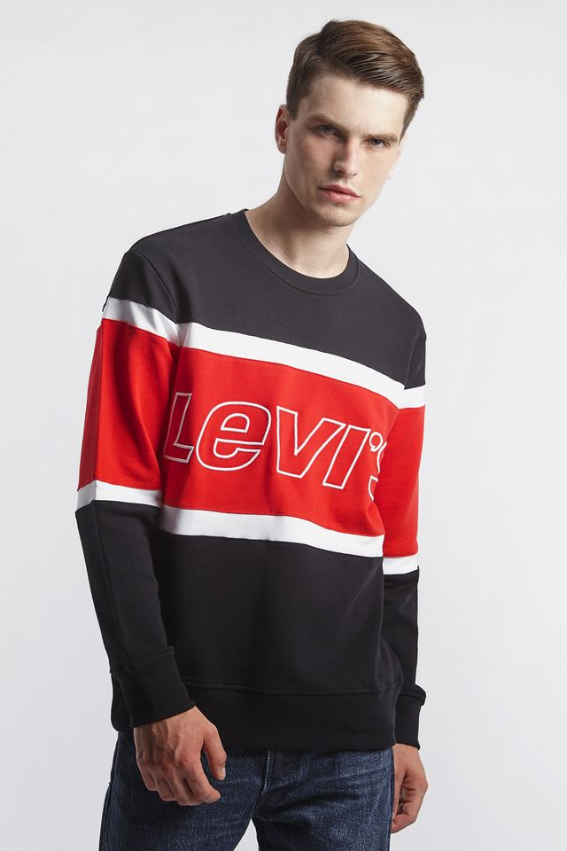 Levi's PIECED CREWNECK SWEATSHIRT 0000 BLACK 79550-0000