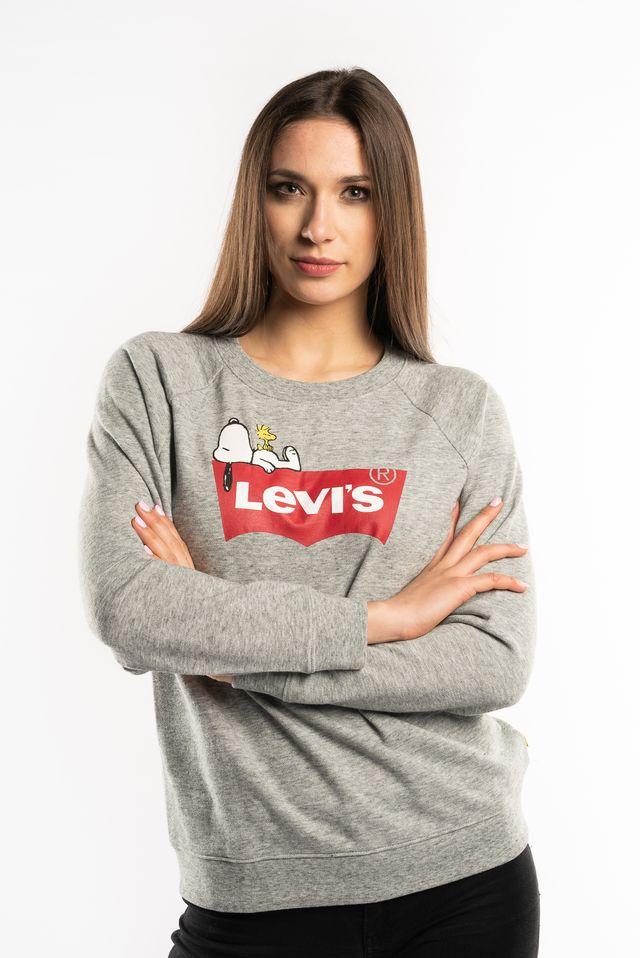 Levi's PEANUTS GRAPHIC CREWNECK SWEATSHIRT 0027 SMOKESTACK 29717-0027