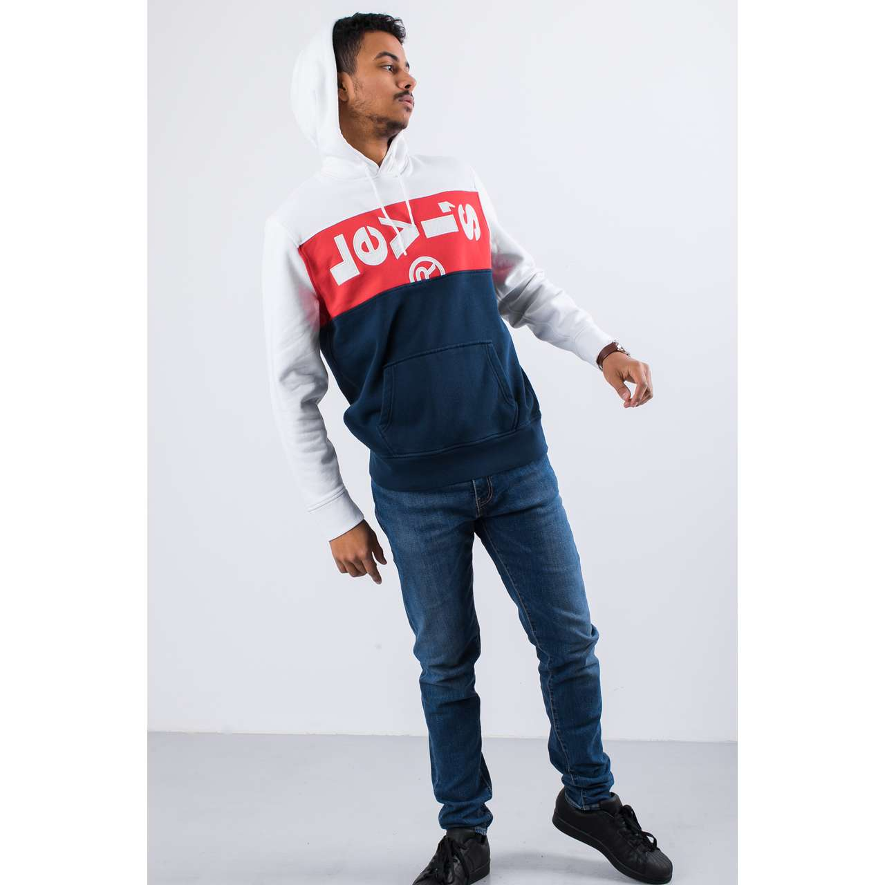 Bluza Levi's  <br/><small>L TAB PANEL HOODIE 0000 LYCHEE </small>  74591-0000
