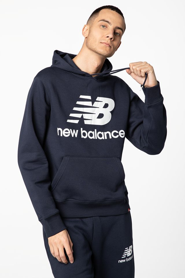 NAVY ESSENTIALS STACKED LOGO PO HOODIE NBMT03578ECL