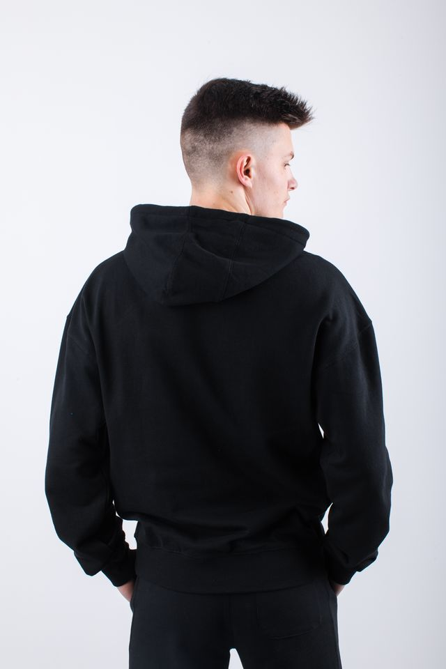 Bluza Russell Athletic  <br/><small>CHENILLE HOODY 099 BLACK </small>  E96081-099