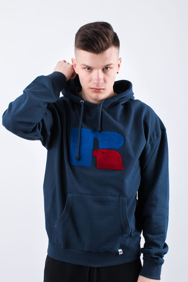 Russell Athletic CHENILLE HOODY 190 NAVY E96081-190