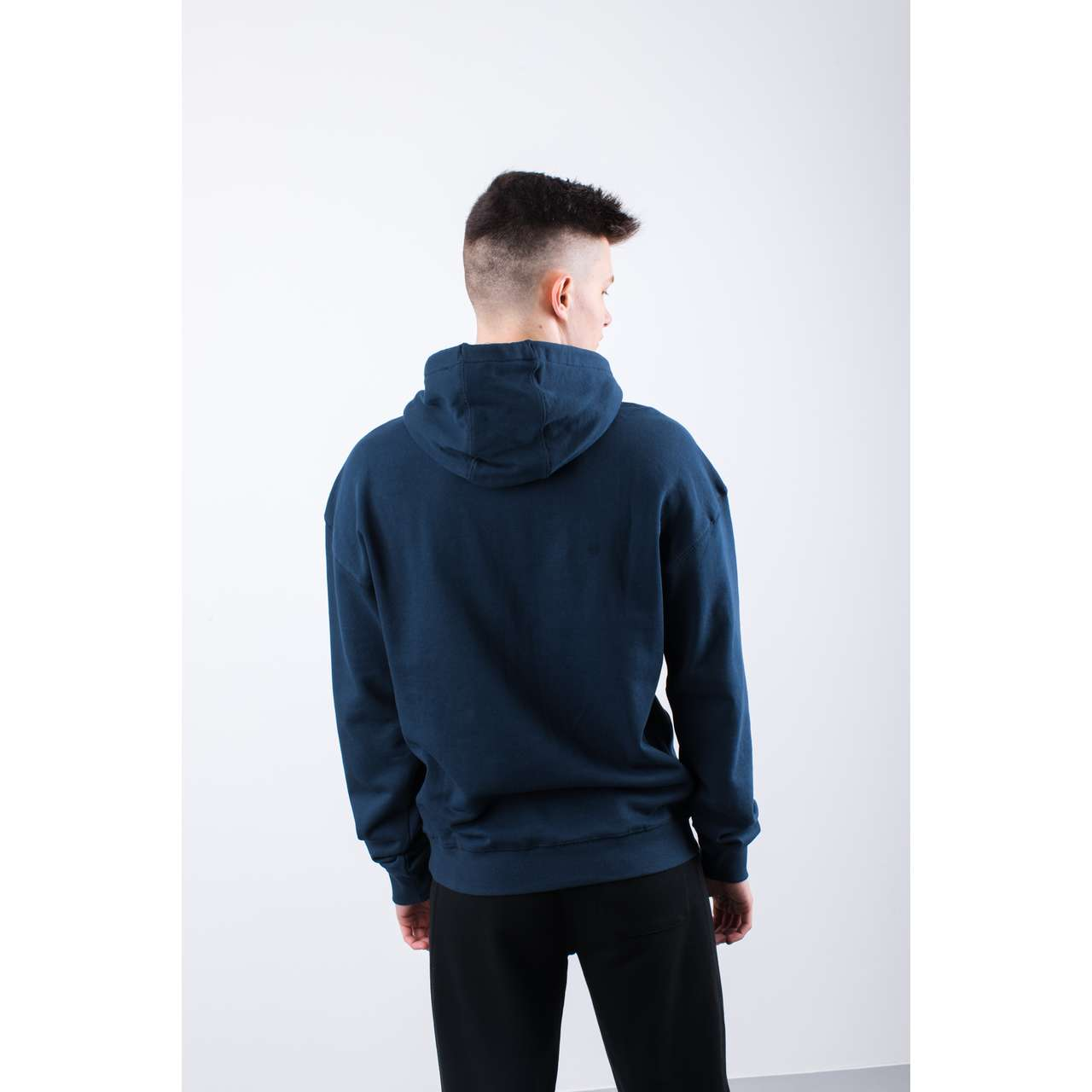 Bluza Russell Athletic  <br/><small>CHENILLE HOODY 190 NAVY </small>  E96081-190