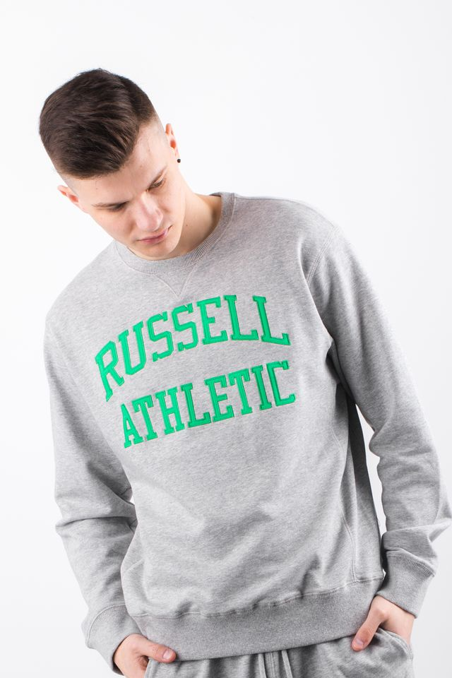 Russell Athletic CREW NECK SWEATSHIRT 091 NEW GREY MARL A90031-091