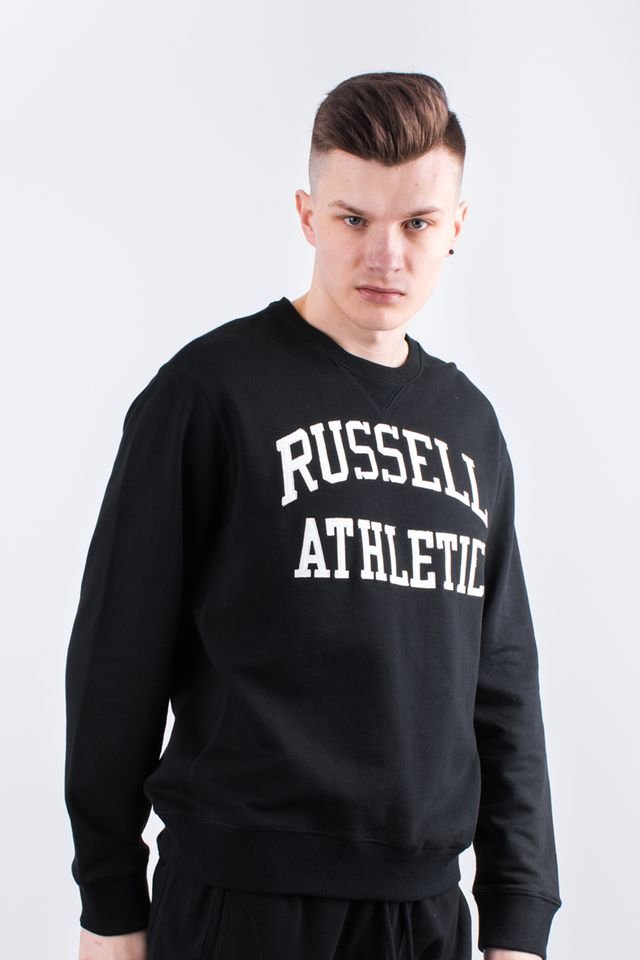 BLACK CREW NECK SWEATSHIRT 099