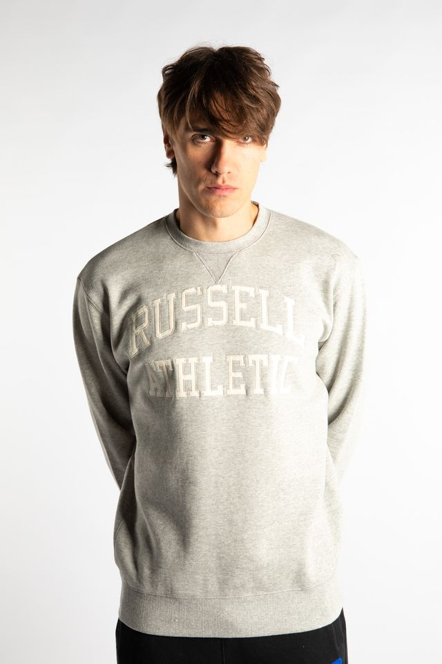 Russell Athletic CREWNECK SWEATSHIRT 091 NEW GREY MARL A90862-091