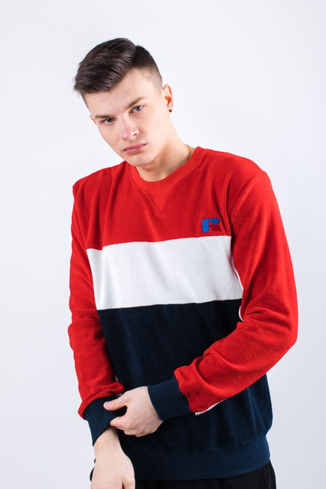 Bluza Russell Athletic  <br/><small>CREWNECK SWEATSHIRT 422 FLAME SCARLET </small>  E90171-422