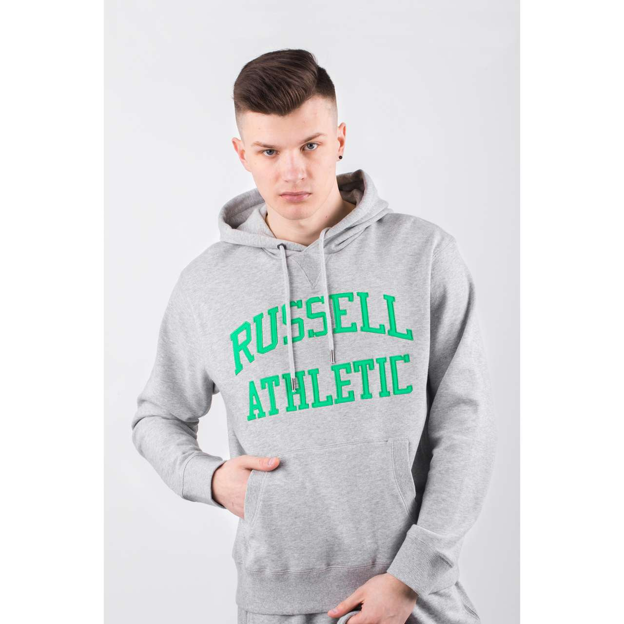 Bluza Russell Athletic  <br/><small>HOODY SWEATSHIRT 091 NEW GREY MARL </small>  A90041-091